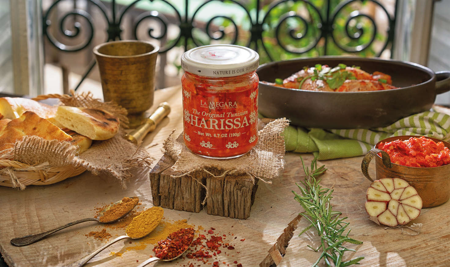 The Original  Tunisian Harissa Background Image