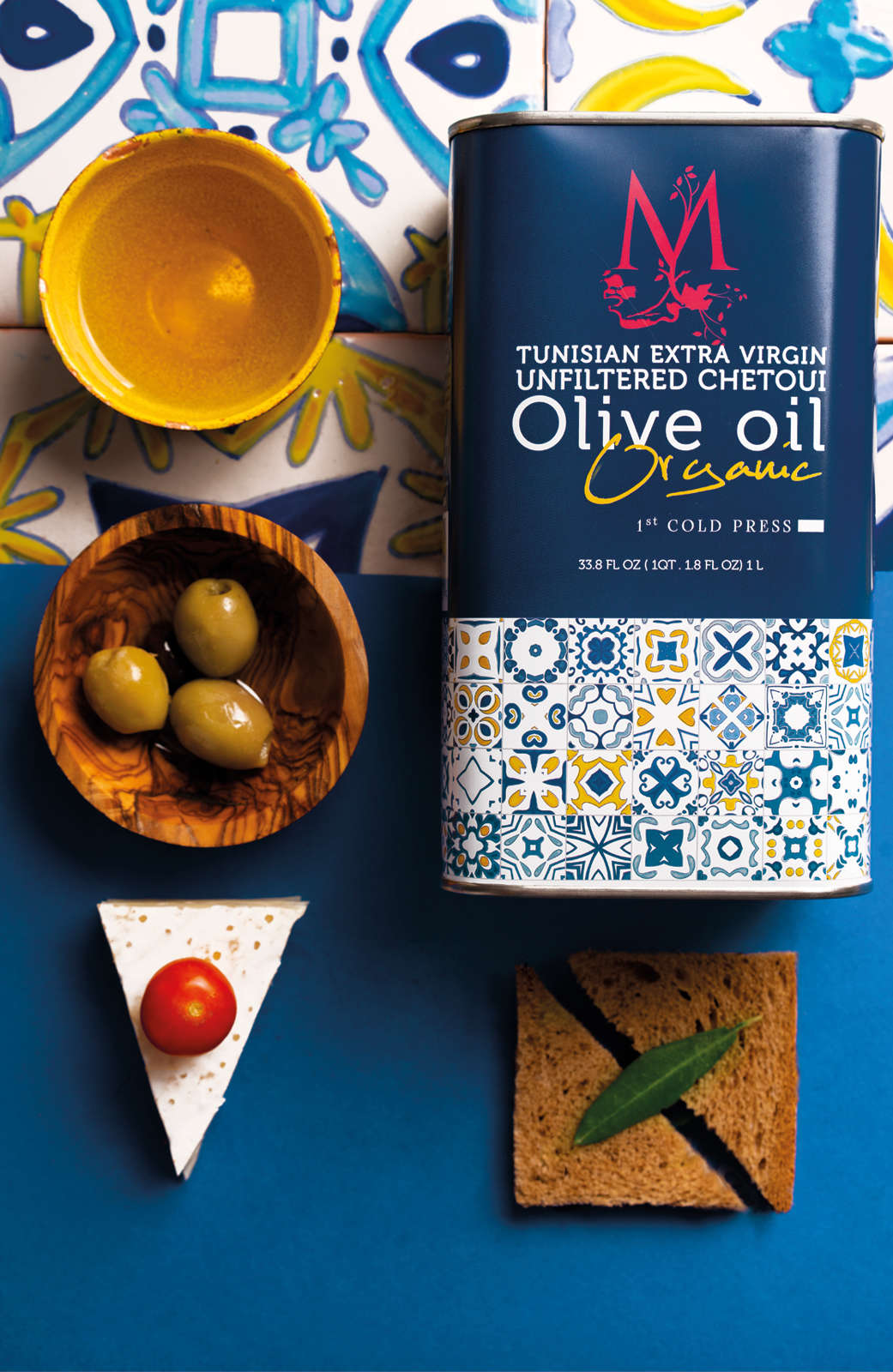 Tunisian Organic Extra Virgin Unfiltered Chetoui Olive Oil