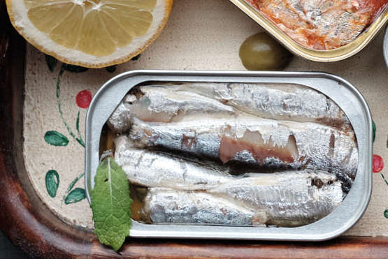 Gourmet  Mediterranean Sardines With Lemon Ingredients